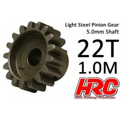 HRC71022 Pignon - 1.0M / axe 5mm - Acier – Léger – 22D
