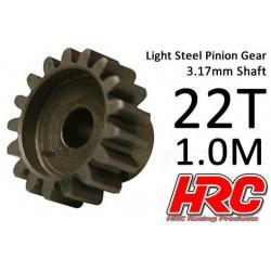 HRC71022S Pignon - 1.0M / axe 3.17mm - Acier – Léger – 22D