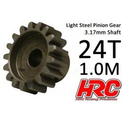 HRC71024S Pignon - 1.0M / axe 3.17mm - Acier – Léger – 24D