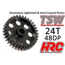 HRC74824AL Pignon - 48DP - Aluminium - TSW Pro Racing – Léger – 24D