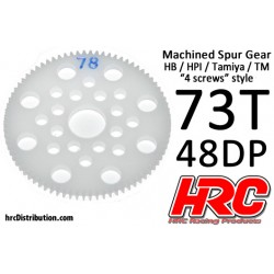 HRC74873P Couronne - 48DP - Delrin Low Friction usiné - HPI/HB/Tamiya Style - 73D