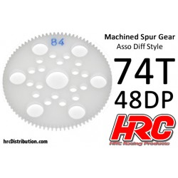 HRC74874A Couronne - 48DP - Delrin Low Friction usiné - Diff Style - 74D