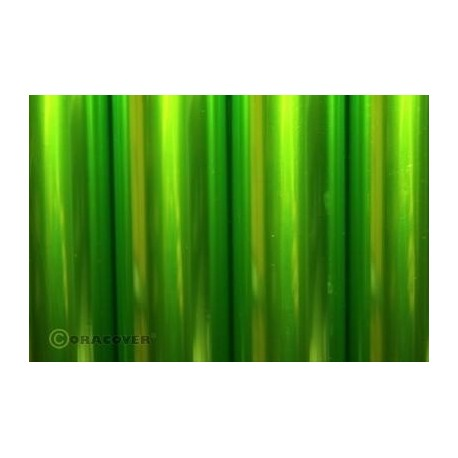 Length : Roll 2m , Width : 60cm // OR-21-049 Oracover Transparent Light Green