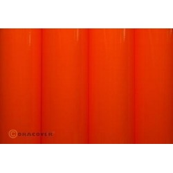 OR-25-064-002 Oracover - Orastick - Fluorescent Red/Orange ( Length : Roll 2m , Width : 60cm )