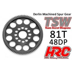 HRC74881LW Couronne - 48DP - Delrin Low Friction usiné - Ultra Light - TSW Pro Racing - 81D