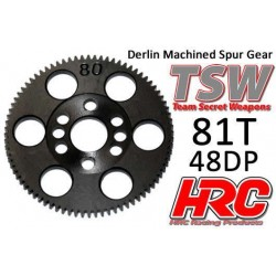HRC74881T Couronne - 48DP - Delrin Low Friction usiné - TSW Pro Racing - 81D