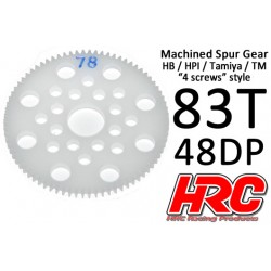 HRC74883P Couronne - 48DP - Delrin Low Friction usiné - HPI/HB/Tamiya Style - 83D