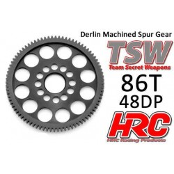 HRC74886LW Couronne - 48DP - Delrin Low Friction usiné - Ultra Light - TSW Pro Racing - 86
