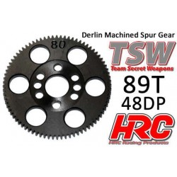 HRC74889T Couronne - 48DP - Delrin Low Friction usiné - TSW Pro Racing - 89D