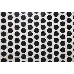 OR-41-010-071-002 Oracover - Fun 1 (16mm Dots) White + Black ( Length : Roll 2m , Width : 60cm )