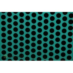 OR-41-017-071-002 Oracover - Fun 1 (16mm Dots) Turquoise + Black ( Length : Roll 2m , Width : 60cm )