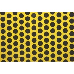 OR-41-033-071-002 Oracover - Fun 1 (16mm Dots) Cadmium Yellow + Black ( Length : Roll 2m , Width : 60cm )