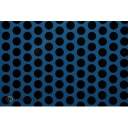 OR-41-053-071-002 Oracover - Fun 1 (16mm Dots) Light Blue + Black ( Length : Roll 2m , Width : 60cm )