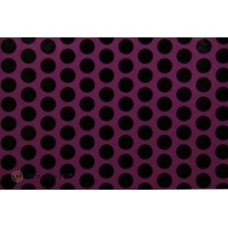 OR-41-054-071-002 Oracover - Fun 1 (16mm Dots) Violet + Black ( Length : Roll 2m , Width : 60cm )