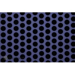 OR-41-055-071-002 Oracover - Fun 1 (16mm Dots) Purple + Black ( Length : Roll 2m , Width : 60cm )