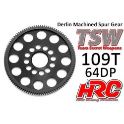 HRC764109LW Couronne - 64DP - Delrin Low Friction usiné - Ultra Light - TSW Pro Racing – 109D