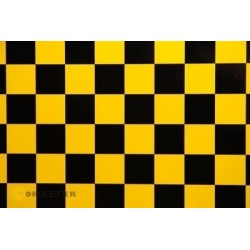OR-43-036-071-010 Oracover - Fun 3 (25mm Square) Pearl Yellow + Black ( Length : Roll 10m , Width : 60cm )
