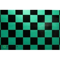 OR-43-047-071-002 Oracover - Fun 3 (25mm Square) Pearl Green + Black ( Length : Roll 2m , Width : 60cm )