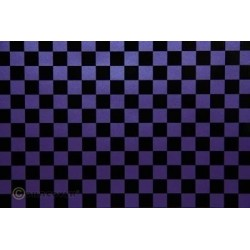 OR-44-056-071-002 Oracover - Fun 4 (12,5mm Square) Pearl Purple + Black ( Length : Roll 2m , Width : 60cm )