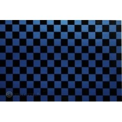 OR-44-057-071-002 Oracover - Fun 4 (12,5mm Square) Pearl Blue + Black ( Length : Roll 2m , Width : 60cm )