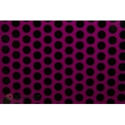 OR-45-015-071-002 Oracover - Orastick - Fun 1 (16mm Dots) Fluorescent Violet + Black ( Length : Roll 2m , Width : 60cm )