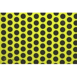 OR-45-031-071-002 Oracover - Orastick - Fun 1 (16mm Dots) Fluorescent Yellow + Black ( Length : Roll 2m , Width : 60cm )