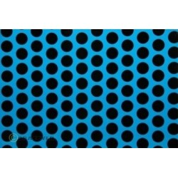 OR-45-051-071-002 Oracover - Orastick - Fun 1 (16mm Dots) Blue Fluorescent + Black ( Length : Roll 2m , Width : 60cm )