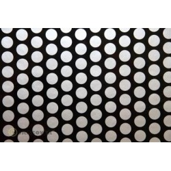 OR-45-071-091-002 Oracover - Orastick - Fun 1 (16mm Dots) Black + Silver ( Length : Roll 2m , Width : 60cm )