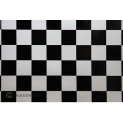 OR-47-016-071-002 Oracover - Orastick - Fun 3 (25mm Square) Pearl White + Black ( Length : Roll 2m , Width : 60cm )
