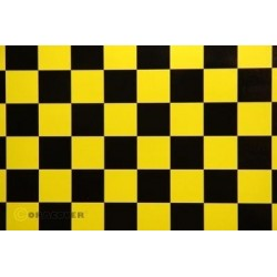 OR-47-033-071-010 Oracover - Orastick - Fun 3 (25mm Square) Yellow + Black ( Length : Roll 10m , Width : 60cm )
