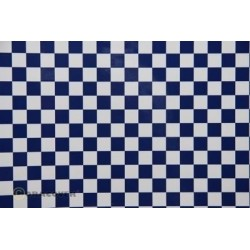 OR-48-010-052-002 Oracover - Orastick - Fun 4 (12,5mm Square) White + Dark Blue ( Length : Roll 2m , Width : 60cm )