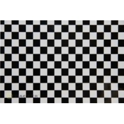 OR-48-010-071-002 Oracover - Orastick - Fun 4 (12,5mm Square) White + Black ( Length : Roll 2m , Width : 60cm )
