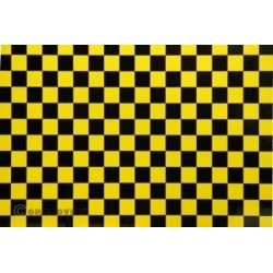 OR-48-036-071-002 Oracover - Orastick - Fun 4 (12,5mm Square) Pearl Yellow + Black ( Length : Roll 2m , Width : 60cm )