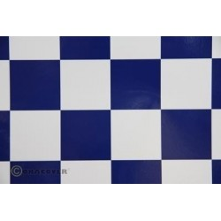 OR-491-010-052-002 Oracover - Fun 5 (52mm Square) White - Dark Blue ( Length : Roll 2m , Width : 60cm )