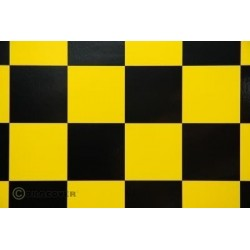 OR-491-033-071-002 Oracover - Fun 5 (52mm Square) Yellow - Black ( Length : Roll 2m , Width : 60cm )