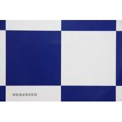 OR-691-010-052-002 Oracover - Fun 6 (104mm Square) White - Dark Blue ( Length : Roll 2m , Width : 60cm )