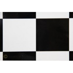OR-691-010-071-002 Oracover - Fun 6 (104mm Square) White - Black ( Length : Roll 2m , Width : 60cm )