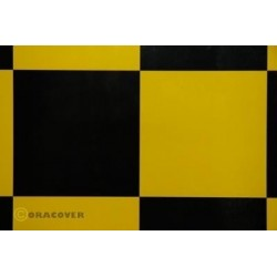 OR-691-033-071-002 Oracover - Fun 6 (104mm Square) Yellow - Black ( Length : Roll 2m , Width : 60cm )