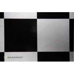OR-691-091-071-002 Oracover - Fun 6 (104mm Square) Silver - Black ( Length : Roll 2m , Width : 60cm )