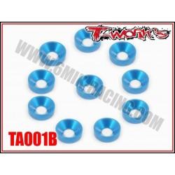 TA001B Rondelles cuvettes M3 bleues (10)