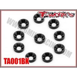 TA001BK Rondelles cuvettes M3 noires (10)