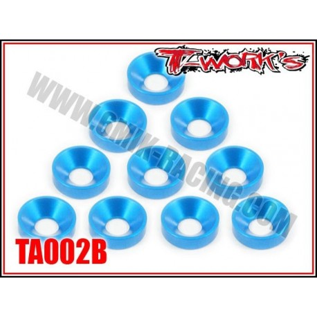 TA002B Rondelles cuvettes M4 bleues (10)