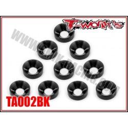 TA002BK Rondelles cuvettes M4 noires (10)