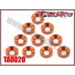 TA002O Rondelles cuvettes M4 oranges (10)