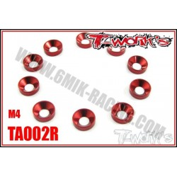 TA002R Rondelles cuvettes M4 rouges (10)