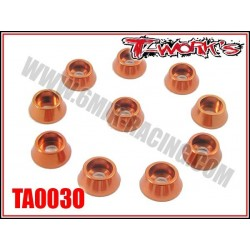TA003O Rondelles cuvettes oranges pour vis M3 cylindriques (10)