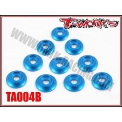 TA004B Rondelles cuvettes bleues pour vis M3 bombés (10)