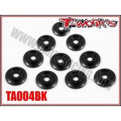 TA004BK Rondelles cuvettes noires pour vis M3 bombés (10)