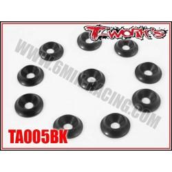 TA005BK Rondelles cuvettes larges M3 noires (10)