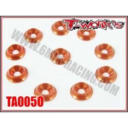 TA005O Rondelles cuvettes larges M3 oranges (10)